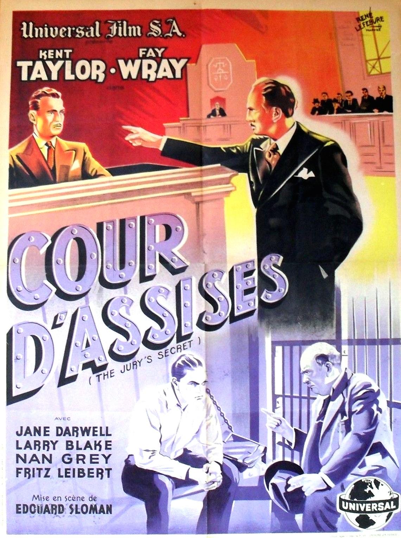 Leonard Mudie and Kent Taylor in The Jury's Secret (1938)