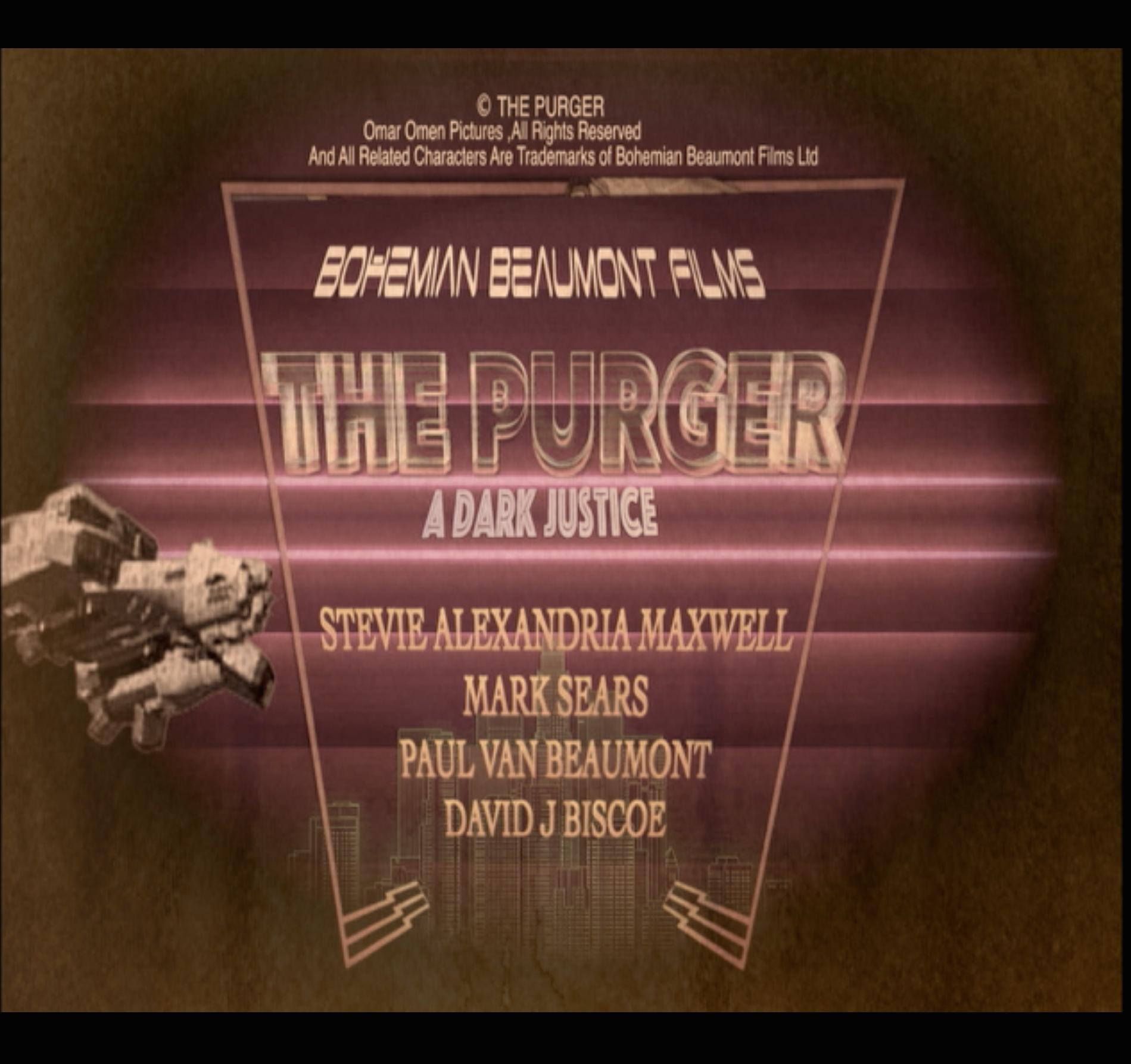 Paul Van Beaumont, David J Biscoe, Stevie Alexandria Maxwell, and Mark Sears in The Purger (2020)