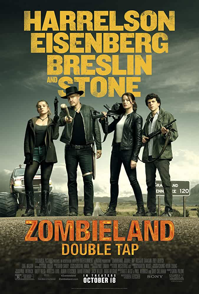 Zombieland Double Tap (2019) English 1080p 720p BluRay x264 / 265 10 Bit HEVC AAC 5.1 Esubs 2GB | 1.7GB | 900MB | Full Movie | Download | Watch Online | [G-drive]
