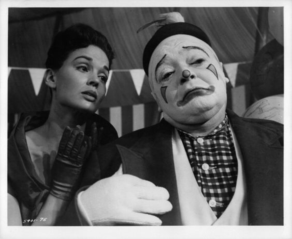 Peter Lorre and Kathryn Grant in The Big Circus (1959)