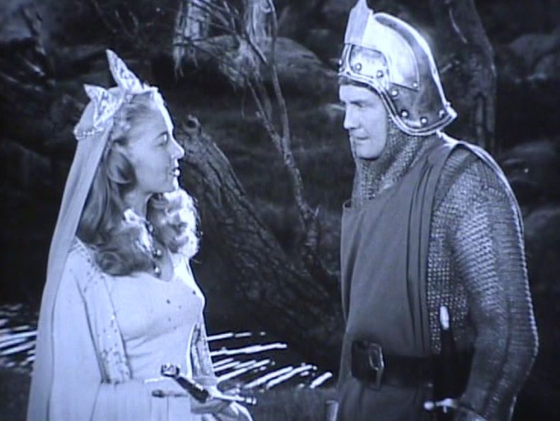 George Reeves and Lois Hall in The Adventures of Sir Galahad (1949)