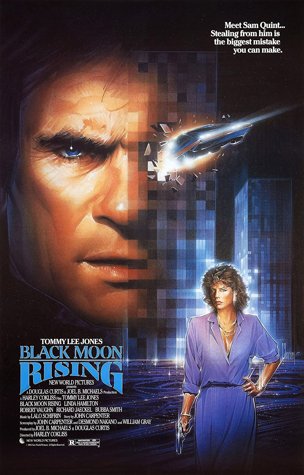 Download 18+ Black Moon Rising 1986 Hindi Dual Audio 720p BluRay 900MB