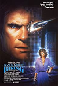 Linda Hamilton and Tommy Lee Jones in Black Moon Rising (1986)