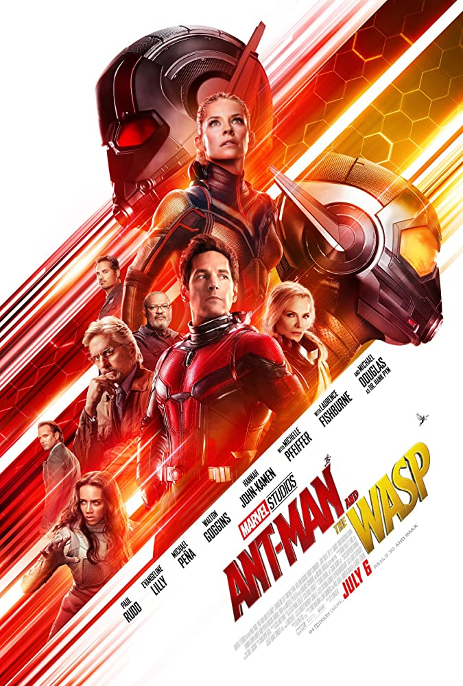 Michael Douglas, Michelle Pfeiffer, Laurence Fishburne, Walton Goggins, Michael Peña, Paul Rudd, Evangeline Lilly, and Hannah John-Kamen in Ant-Man and the Wasp (2018)