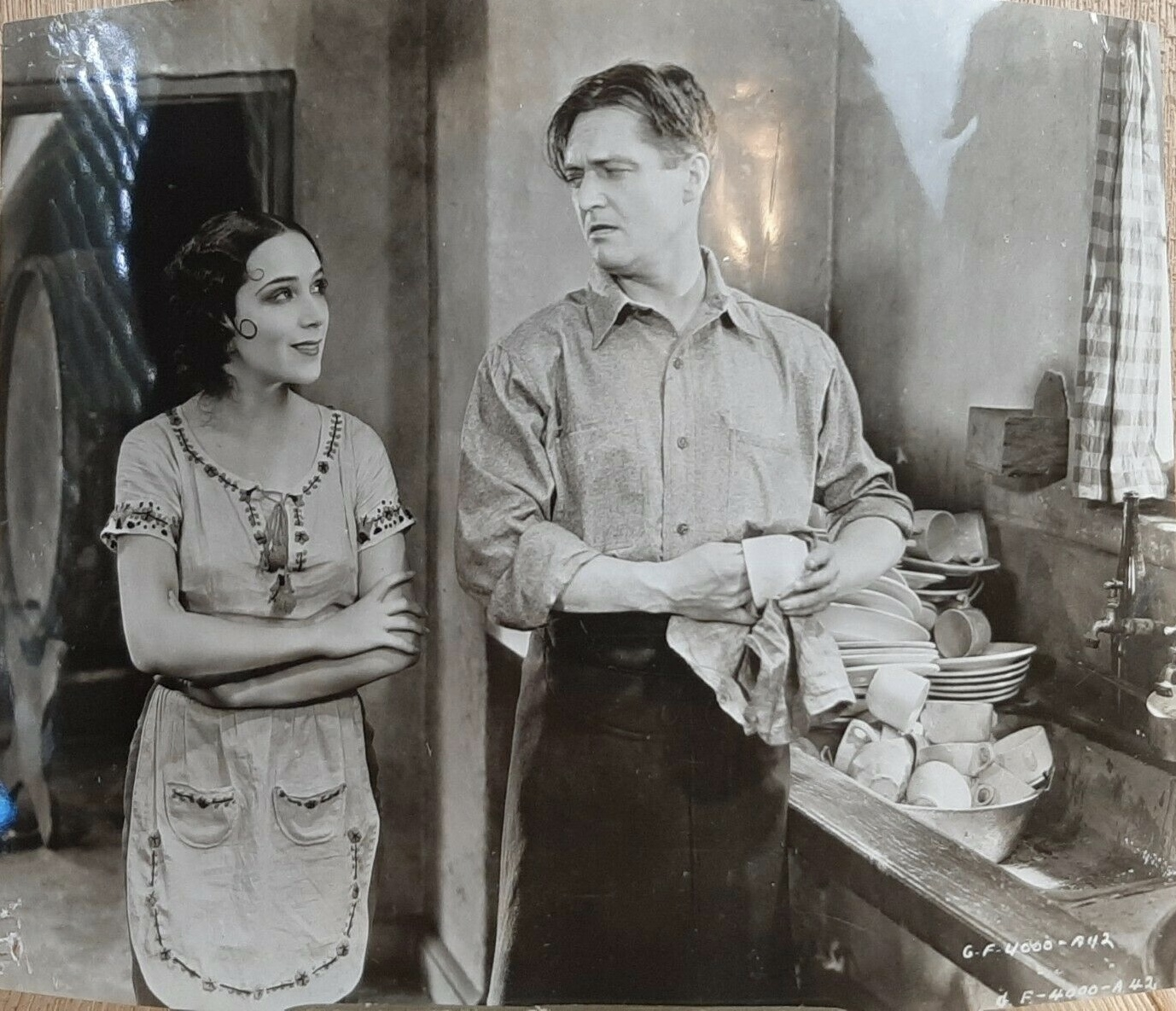 Dolores del Rio and Edmund Lowe in What Price Glory (1926)