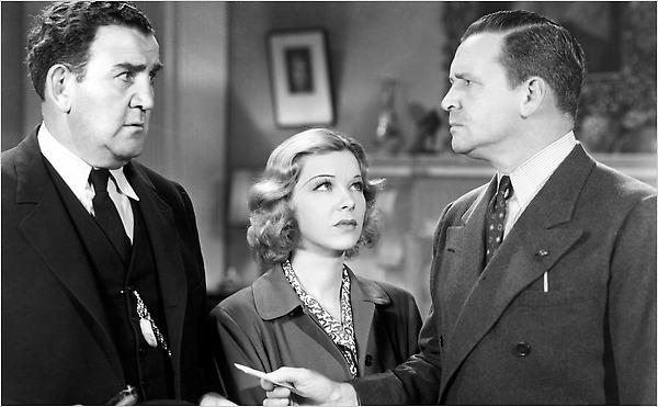 Glenda Farrell, Tom Kennedy, and Barton MacLane in Torchy Blane in Chinatown (1939)