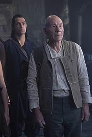 Patrick Stewart, Alison Pill, Evan Evagora, and Isa Briones in Et in Arcadia Ego, Part 1 (2020)