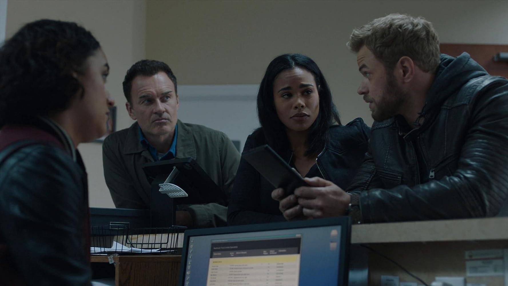 Julian McMahon, Keisha Castle-Hughes, Kellan Lutz, and Roxy Sternberg in FBI: Most Wanted (2020)