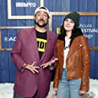 Kevin Smith and Sidney Flanigan at an event for The IMDb Studio at Acura Festival Village (2020)