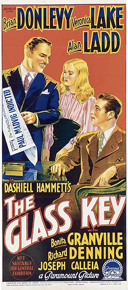 Alan Ladd, Veronica Lake, and Brian Donlevy in The Glass Key (1942)