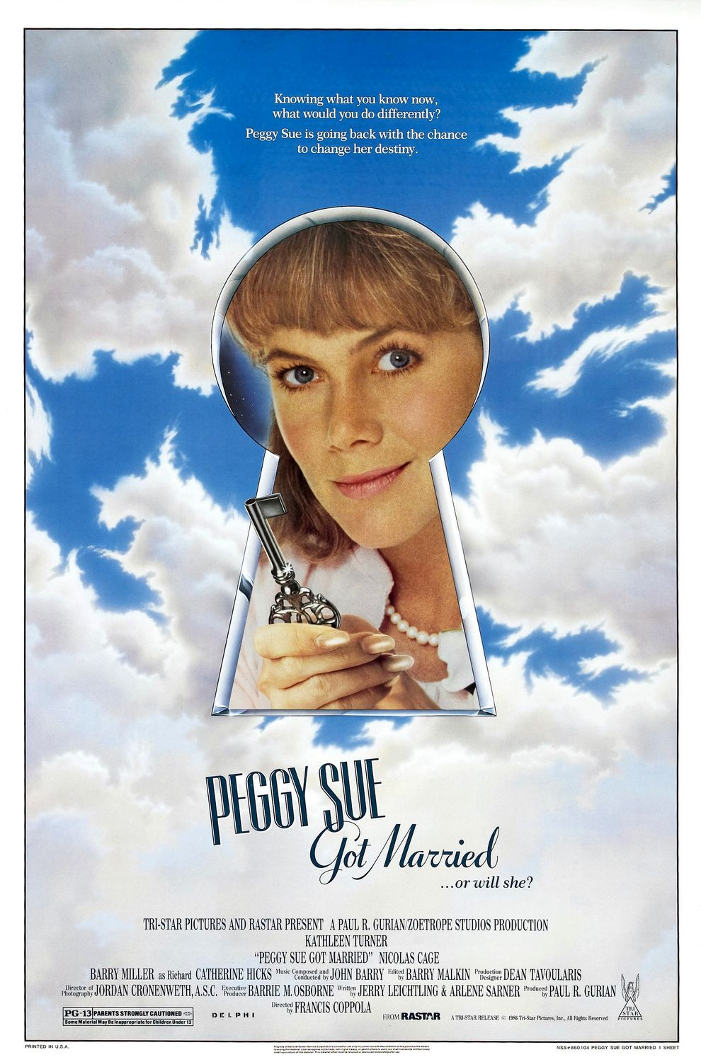 Image result for peggy sue got married movie poster