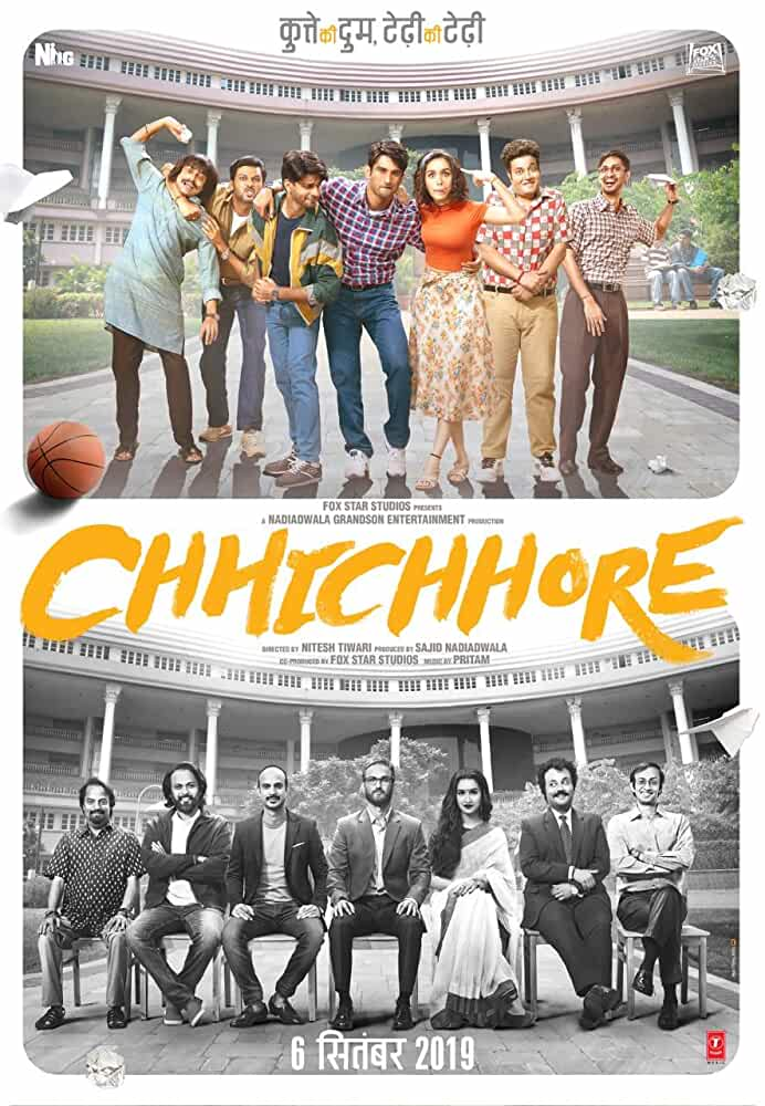 Download Chhichhore (2019) Hindi Full Movie 480p [450MB] | 720p [1.1GB] | 1080p [2.5GB]