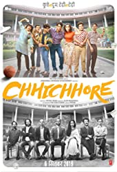 Prateik, Shraddha Kapoor, Tahir Raj Bhasin, Sushant Singh Rajput, Naveen Polishetty, Varun Sharma, Saharsh Kumar Shukla, and Tushar Pandey in Chhichhore (2019)