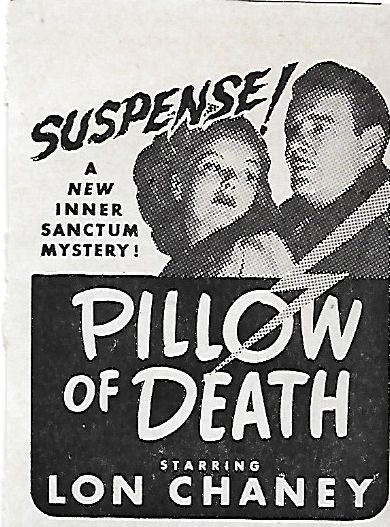 Lon Chaney Jr. and Rosalind Ivan in Pillow of Death (1945)