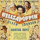 Hugh Herbert, Mischa Auer, Chic Johnson, Ole Olsen, and Martha Raye in Hellzapoppin' (1941)