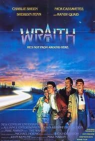 Sherilyn Fenn, Charlie Sheen, and Nick Cassavetes in The Wraith (1986)
