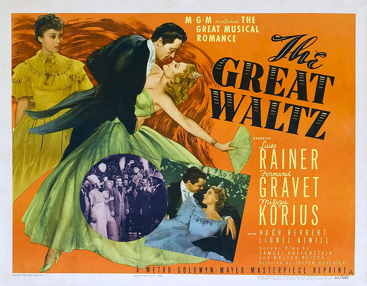 Fernand Gravey, Miliza Korjus, and Luise Rainer in The Great Waltz (1938)