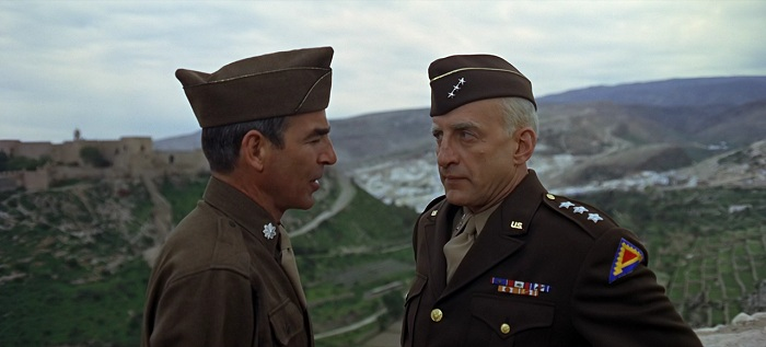 George C Scott and Paul Stevens in Patton 1970