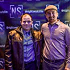 """Max Hechtman and Andrew Lyman-Clarke at the New York Opening Night screening of Andrew's feature film """"Night Sweats"""" (2019)."""