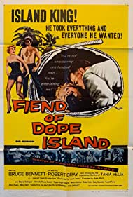 Bruce Bennett, Robert Bray, and Tania Velia in The Fiend of Dope Island (1960)