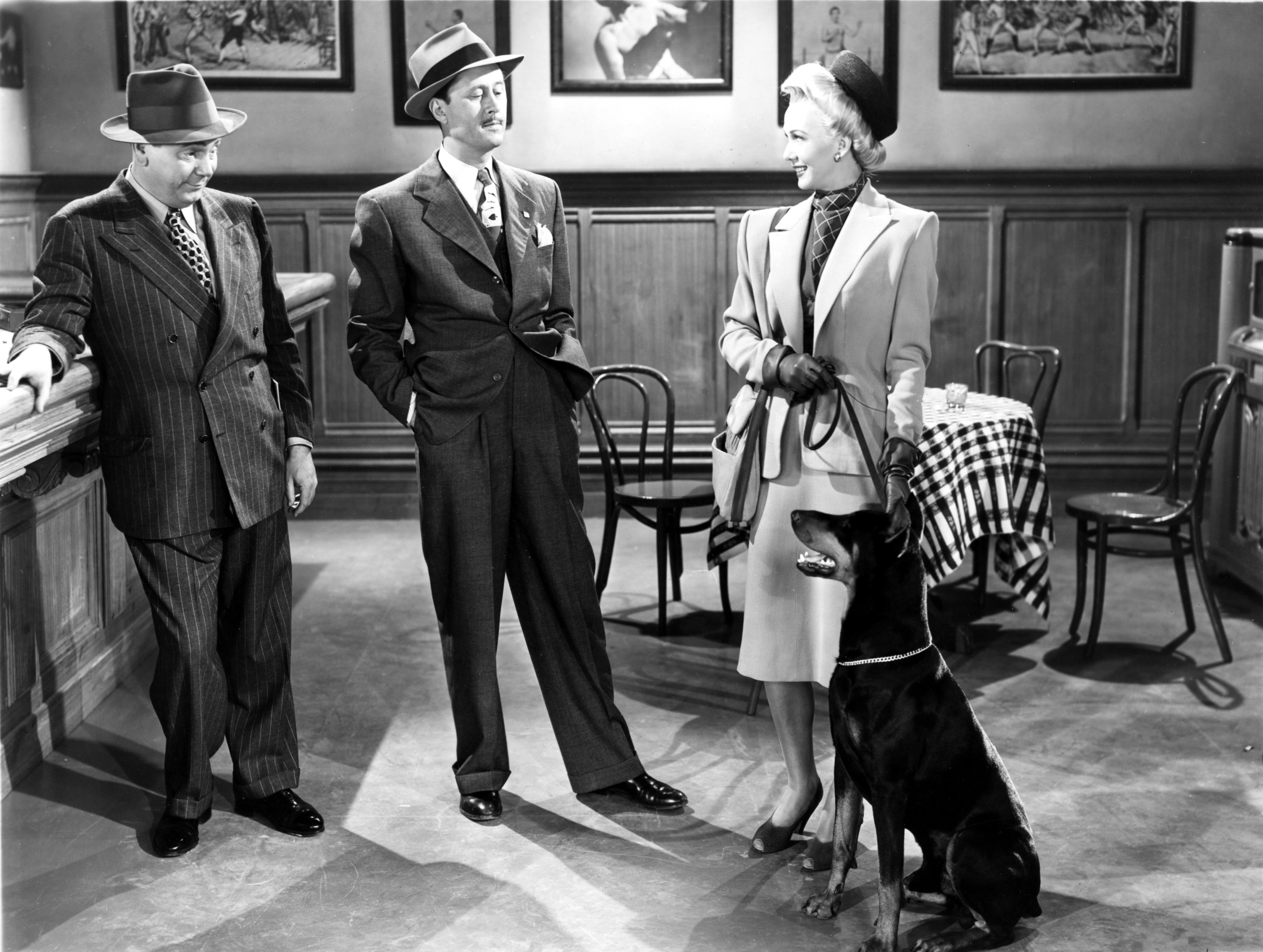 Charles Cane, Allyn Joslyn, and Carole Landis in It Shouldn't Happen to a Dog (1946)