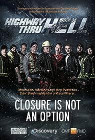 Ken Duperon, Jason Davis, Chris Mervyn, Jamie Davis, Brandon Kodallas, Colin McLean, Al Quiring, Gord Boyd, and Dylan Greenwood in Highway Thru Hell (2012)