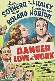 John Carradine, Edward Everett Horton, Mary Boland, Walter Catlett, Jack Haley, and Ann Sothern in Danger - Love at Work (1937)