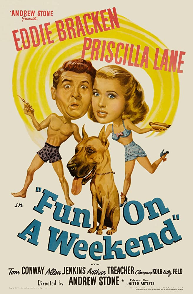 Eddie Bracken and Priscilla Lane in Fun on a Week-End (1947)