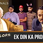 Gopal Datt, Shivankit Singh Parihar, Jasmeet Singh Bhatia, Badri Chavan, and Bhuvan Bam in TVF Bachelors (2016)