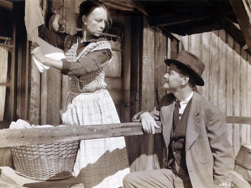 Lew Ayres and Agnes Moorehead in Johnny Belinda (1948)