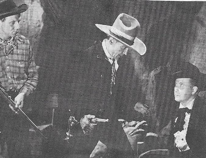 Tim McCoy, Buck Jones, and Eddie Parker in West of the Law (1942)