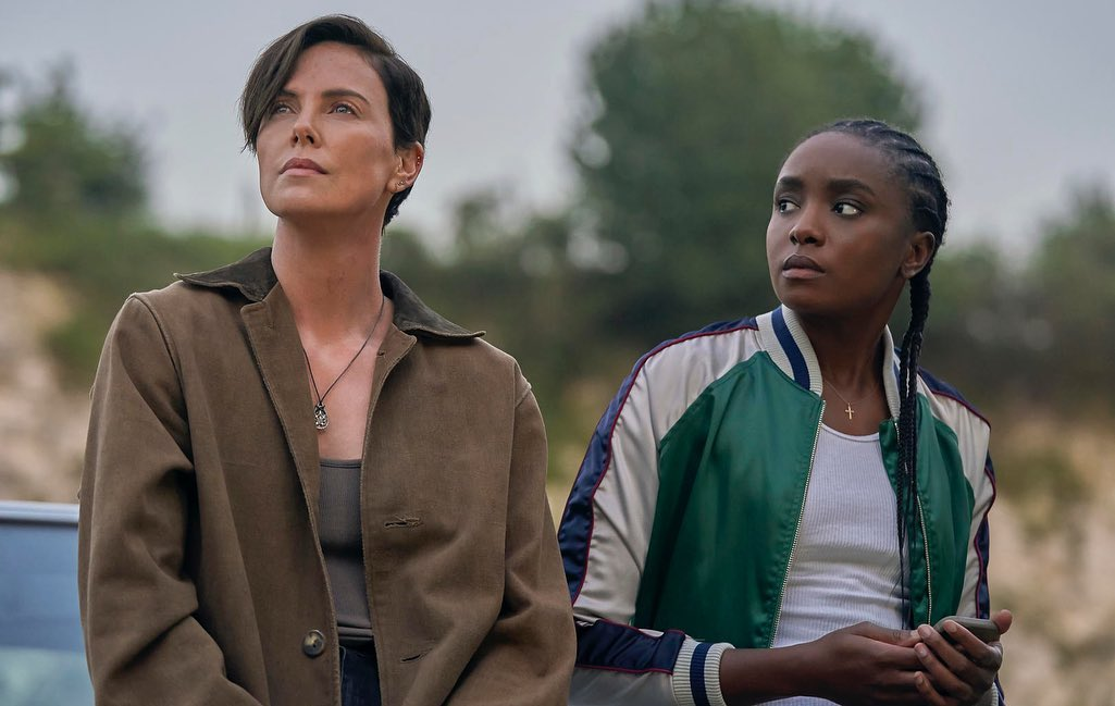 Charlize Theron and KiKi Layne in The Old Guard (2020)