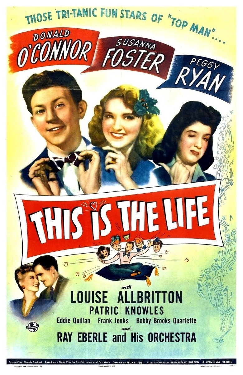 Louise Allbritton, Susanna Foster, Patric Knowles, Donald O'Connor, and Peggy Ryan in This Is the Life (1944)