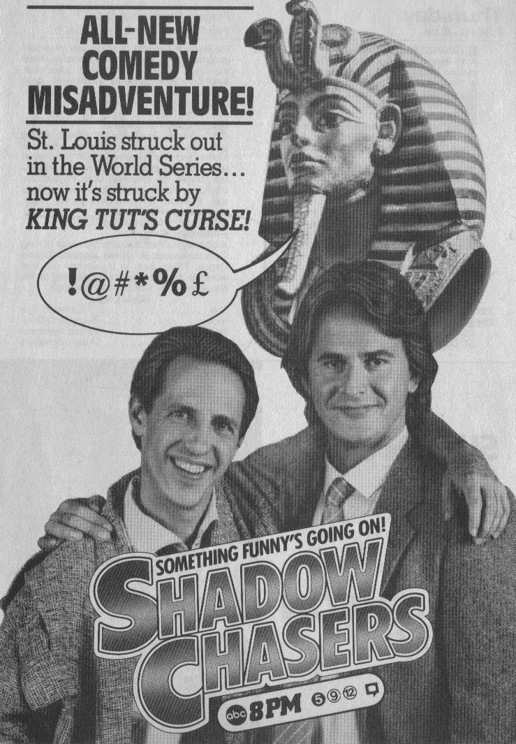 Dennis Dugan and Trevor Eve in Shadow Chasers (1985)
