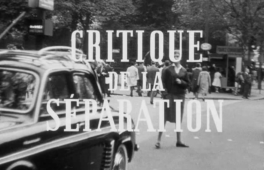 دانلود زیرنویس فارسی فیلم Critique of Separation
