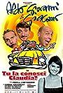 Aldo Baglio, Paola Cortellesi, Giacomo Poretti, and Giovanni Storti in Tu la conosci Claudia? (2004)
