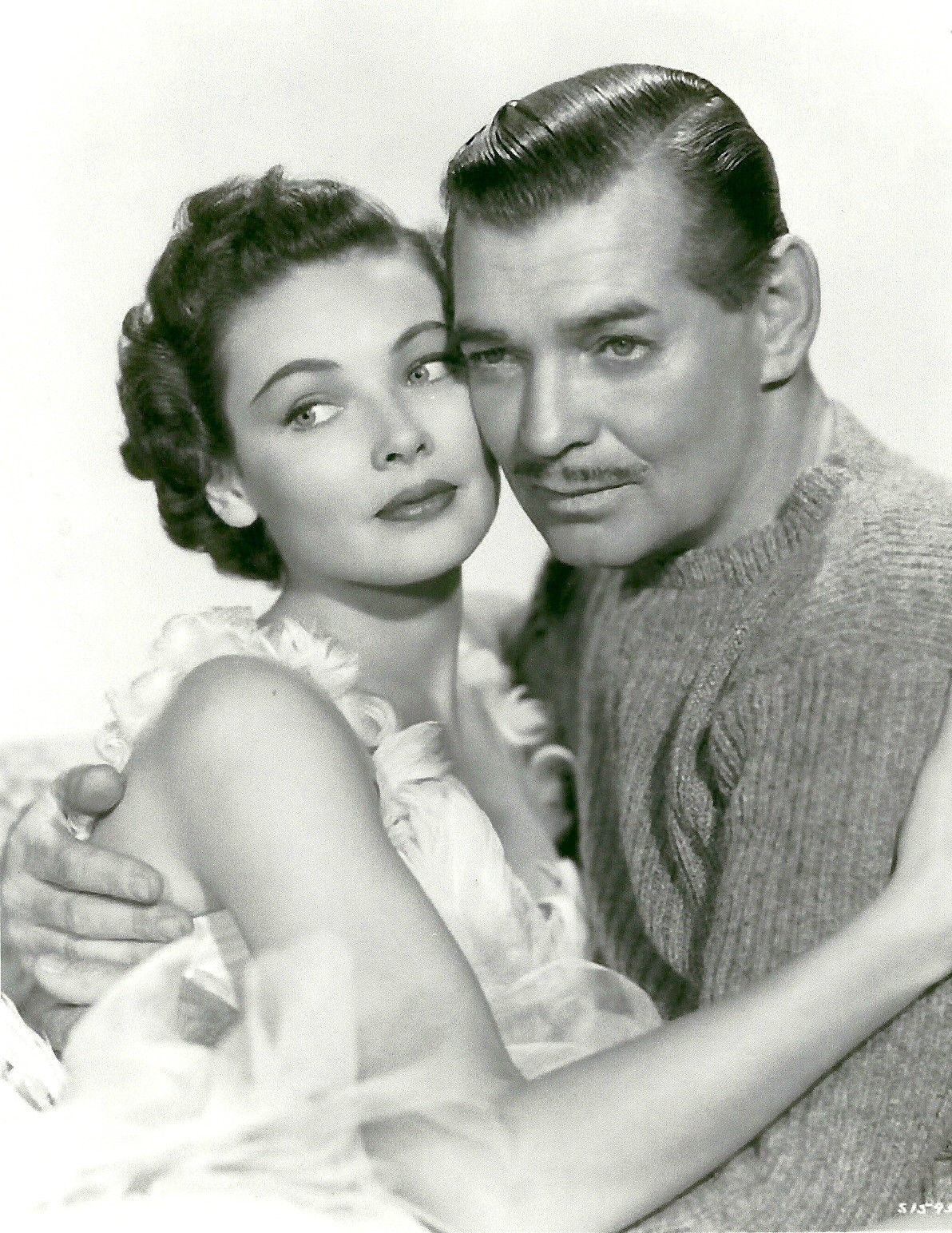 Clark Gable and Gene Tierney in Never Let Me Go (1953)