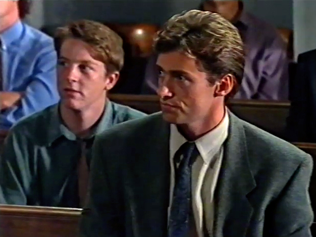 Hugh Jackman and Richard Young in Law of the Land (1993)
