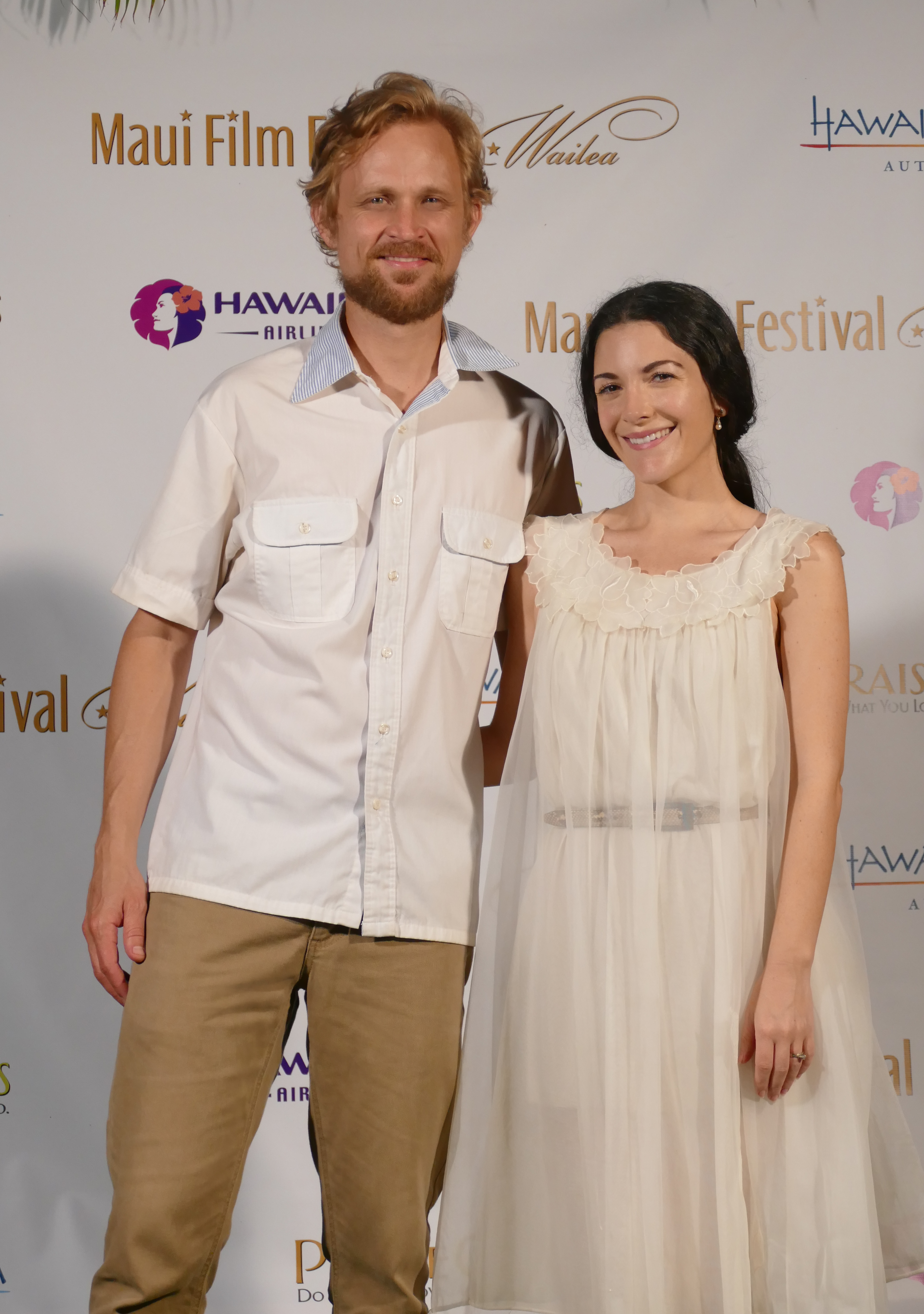 Ryan Jonze and Shannon Beeby at Maui Film Festival