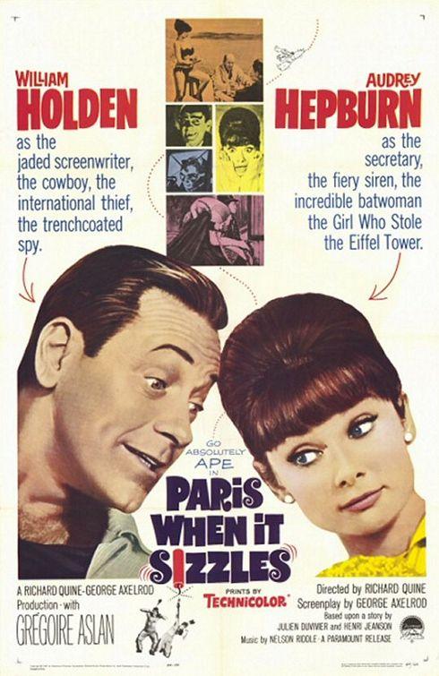 Audrey Hepburn and William Holden in Paris - When It Sizzles (1964)