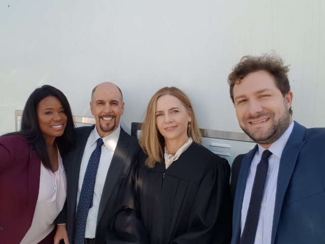 The co-stars for an ABC courtroom drama.