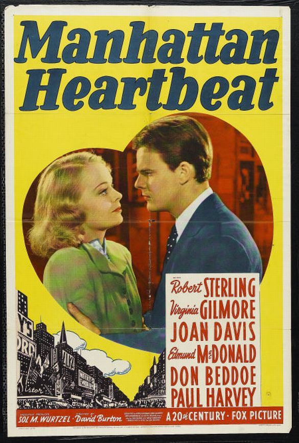 Virginia Gilmore and Robert Sterling in Manhattan Heartbeat (1940)