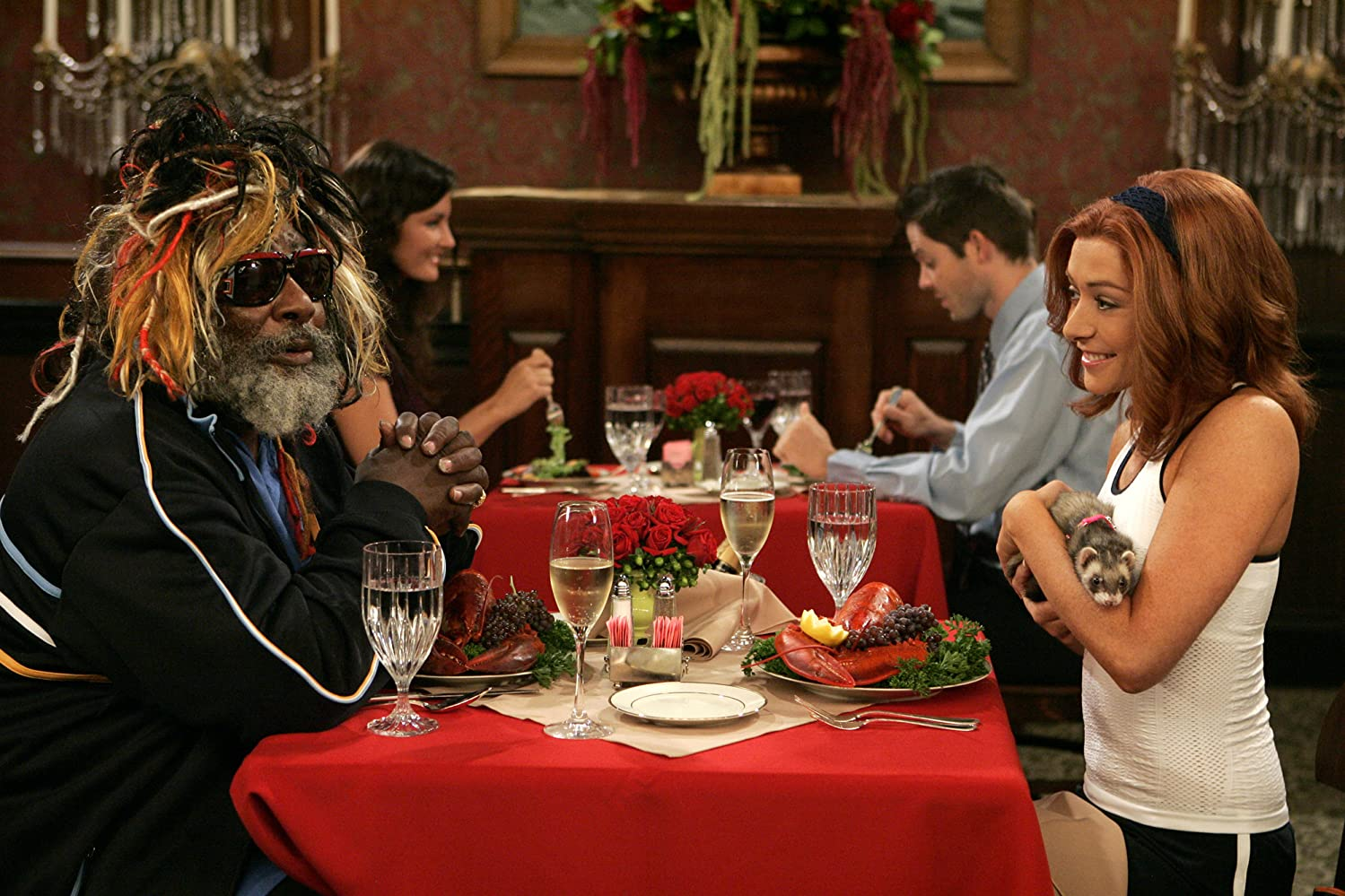 Alyson Hannigan and George Clinton in How I Met Your Mother (2005)