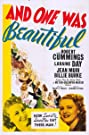 And One Was Beautiful (1940) Poster
