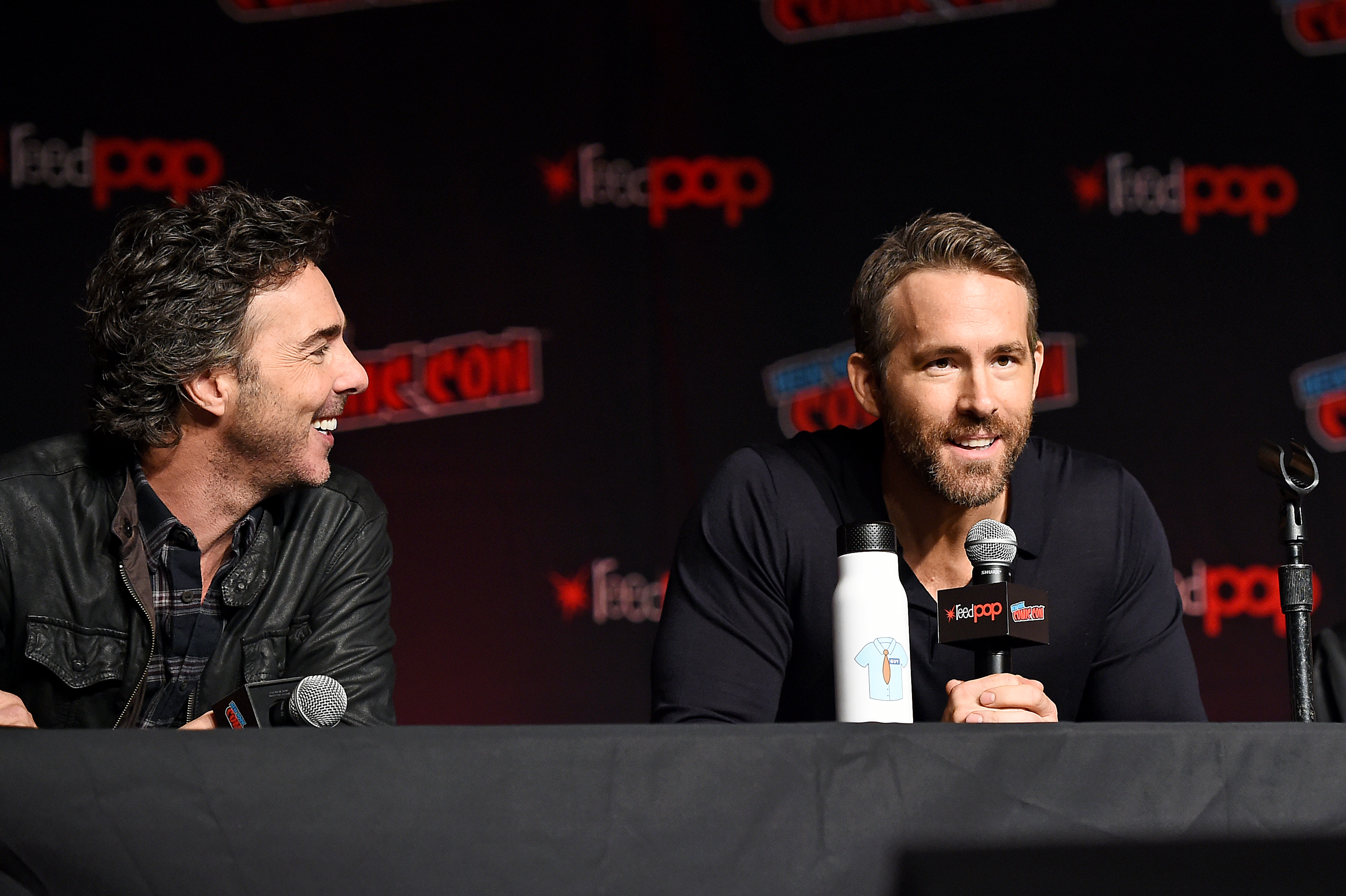 Ryan Reynolds and Shawn Levy at an event for Free Guy