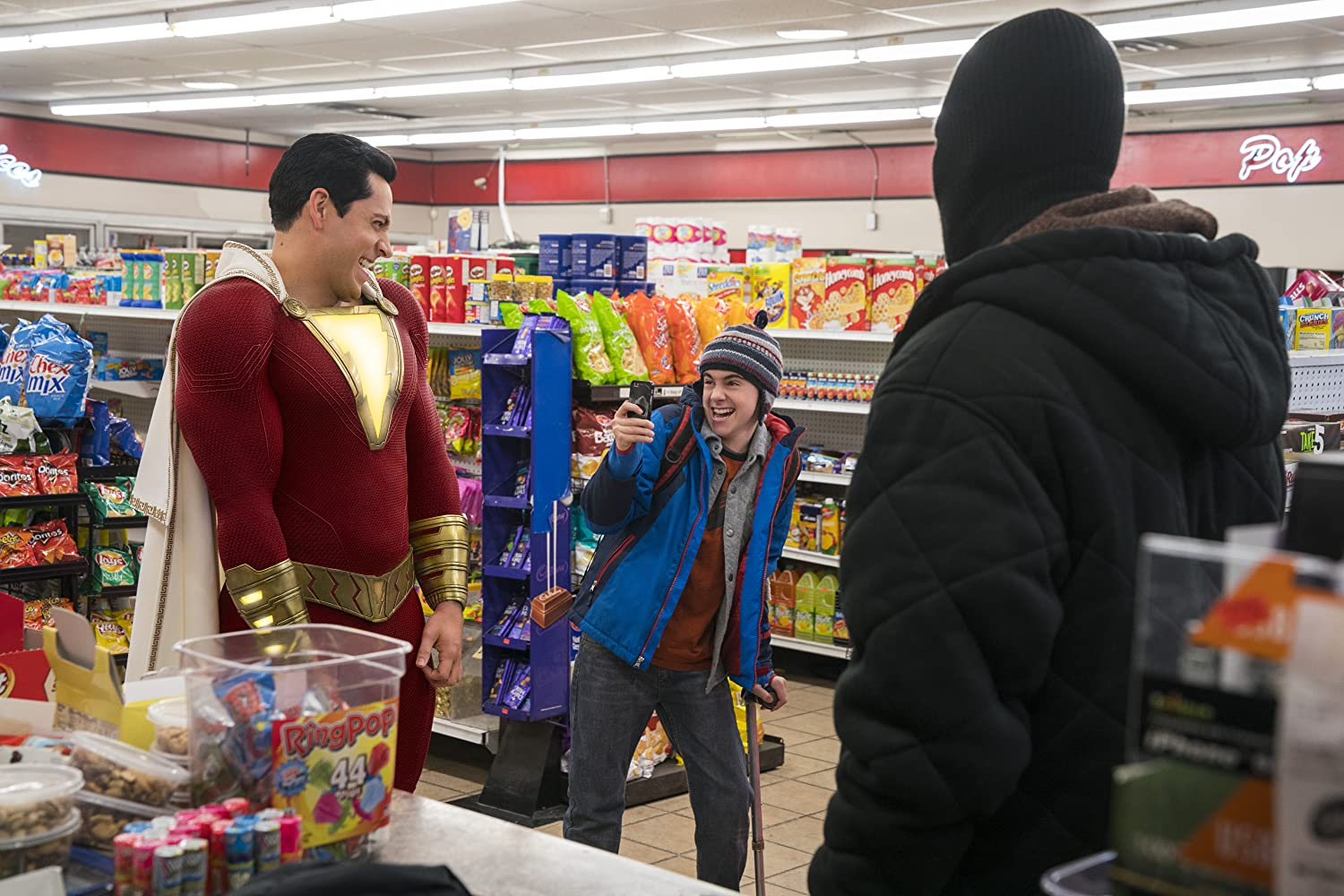 Zachary Levi and Jack Dylan Grazer in Shazam! (2019)
