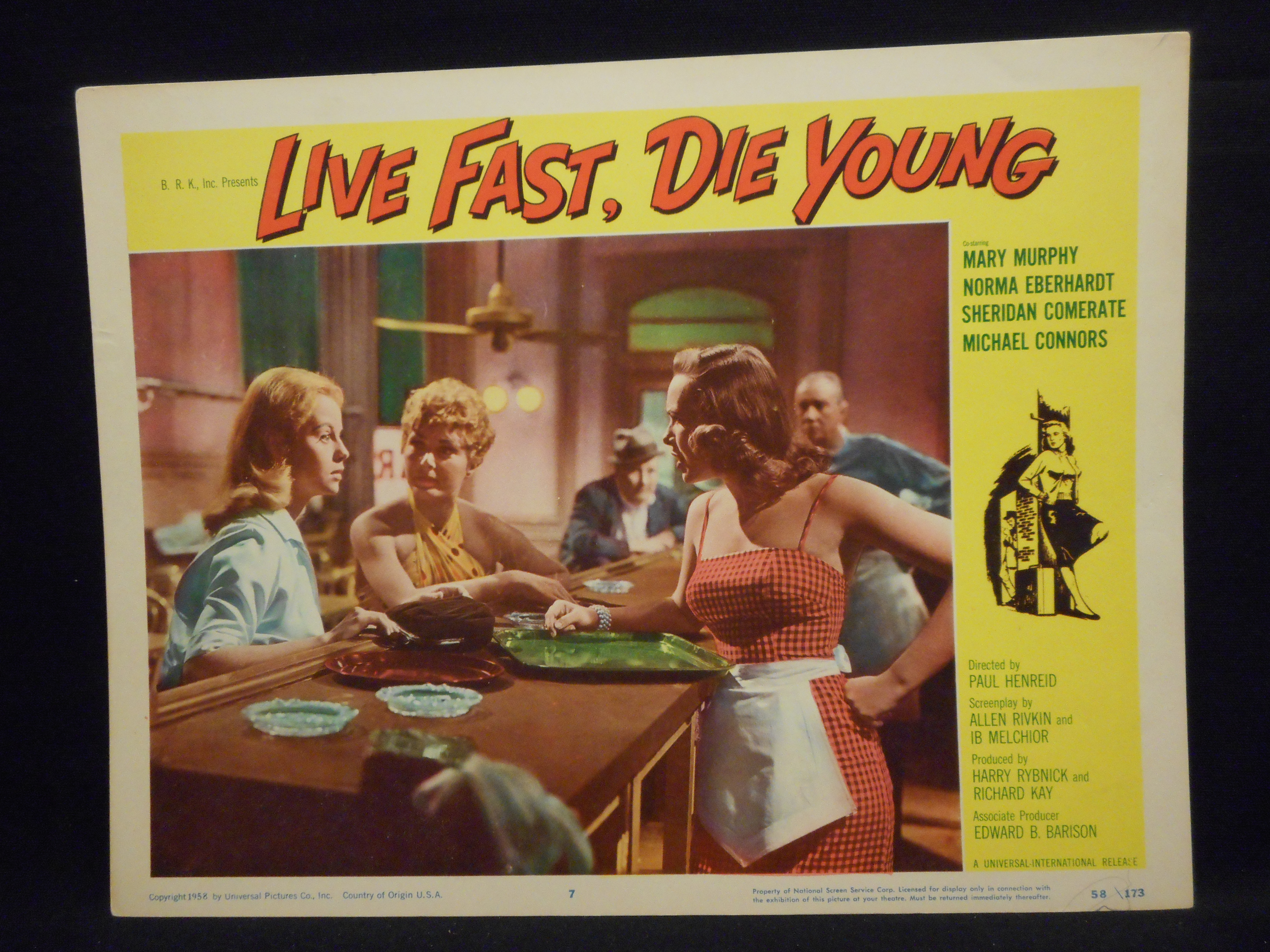 Norma Eberhardt, Peggy Maley, and Mary Murphy in Live Fast, Die Young (1958)