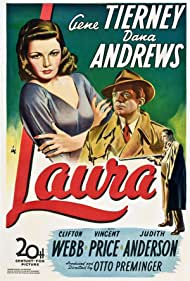 Gene Tierney, Dana Andrews, and Clifton Webb in Laura (1944)