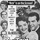 Charles Bickford, Lynn Bari, James Gleason, Fred MacMurray, Thomas Mitchell, and Lloyd Nolan in Captain Eddie (1945)