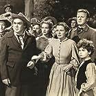 Janet Leigh, Dean Stockwell, Van Johnson, Thomas Mitchell, and Selena Royle in The Romance of Rosy Ridge (1947)